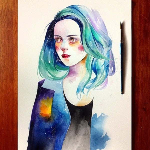 watercolor painting by kazel lim
