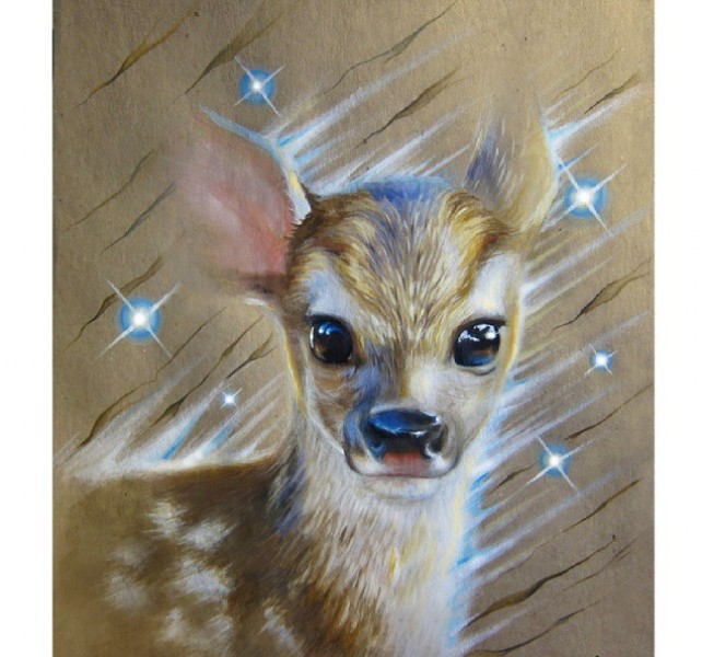 deer pencil drawing by kate mur