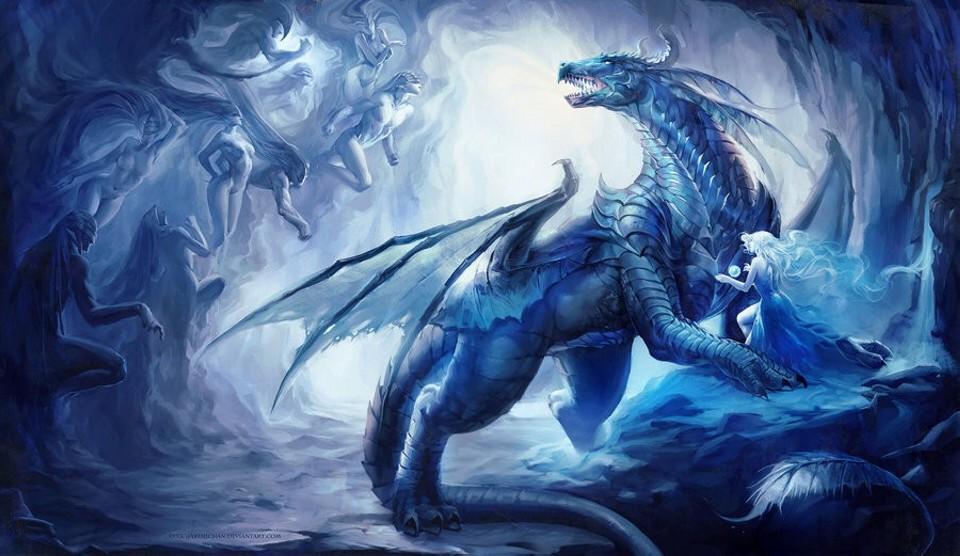 dragon digital art by sakimichan