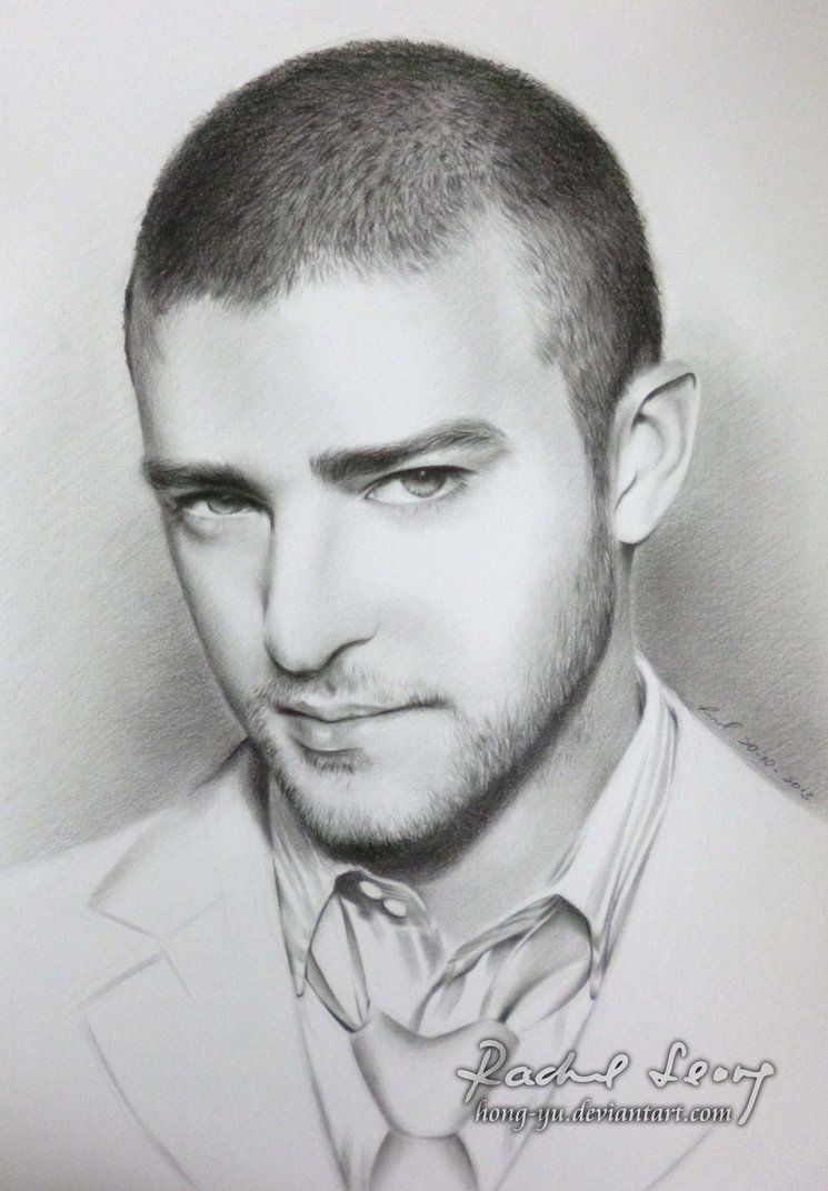 justin timberlake pencil art by leong hong yu