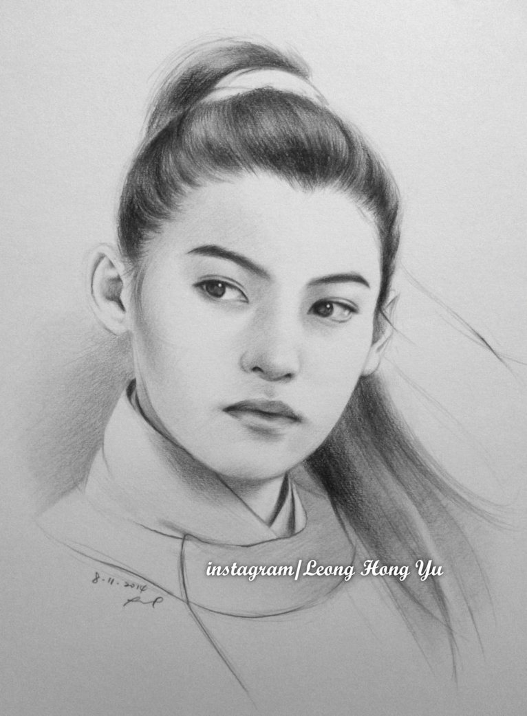 cecilia cheung pencil art by leong hong yu