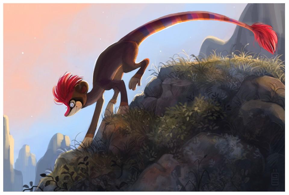 monkey digital art by tina