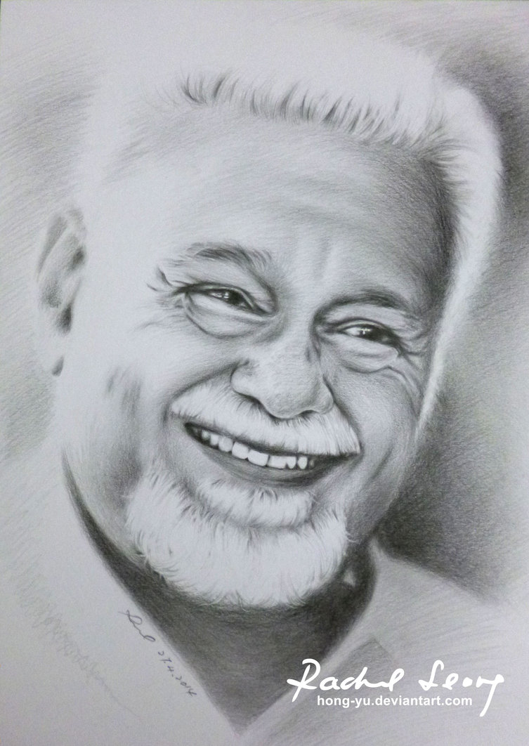 karpal singh pencil art by leong hong yu