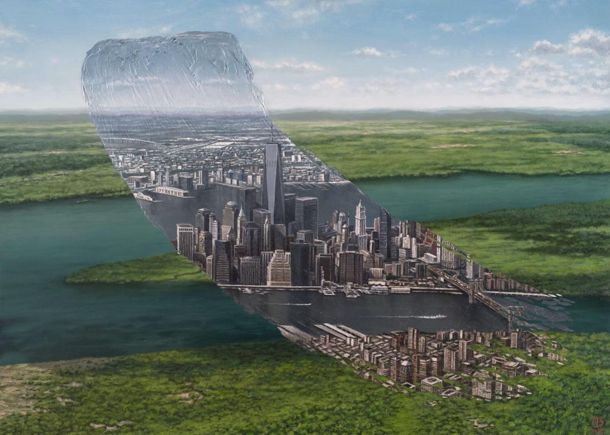 amazing paintings river city david ambarzumjan