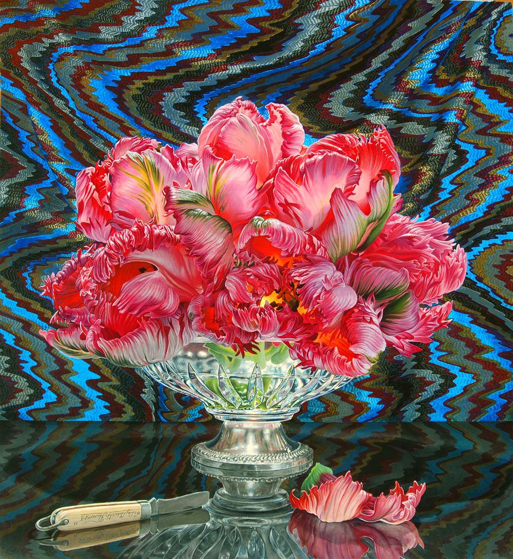 still life oil paintings flower eric wert