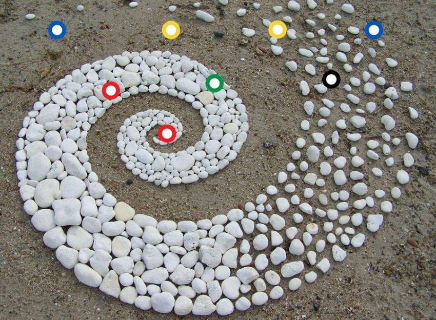 creative art ideas spiral stone andy goldsworthy