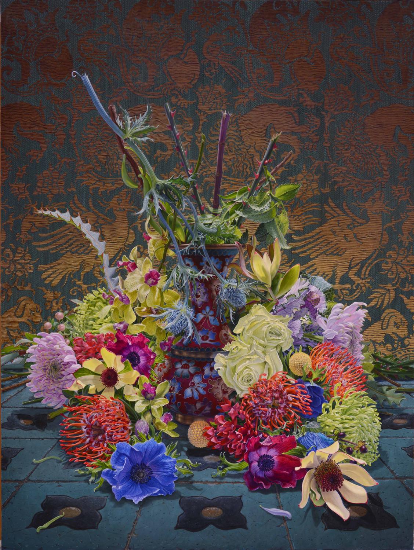still life oil paintings flower vase eric wert