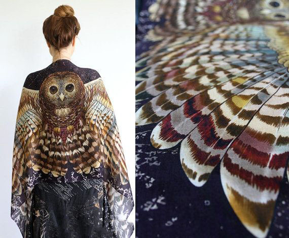 black wings scarf art 1