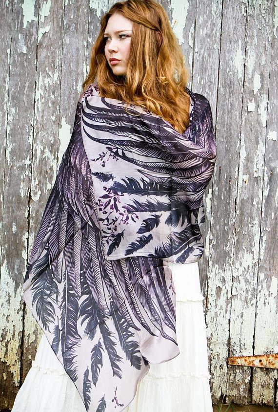 blue owl scarf art 1
