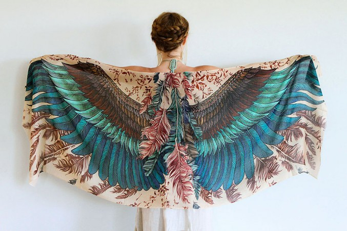 green wings scarf art 3