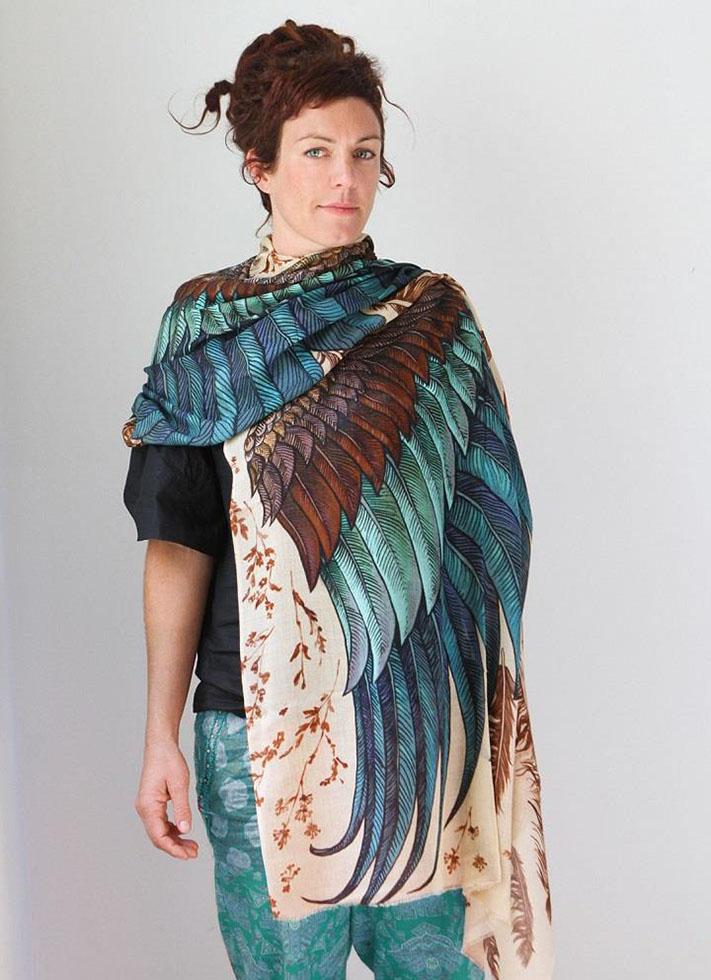 green wings scarf art 4