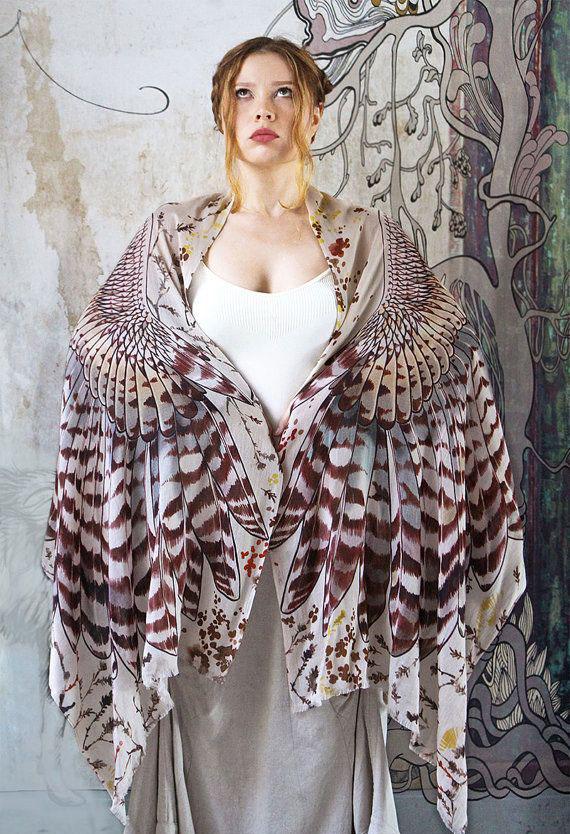 wings scarf art