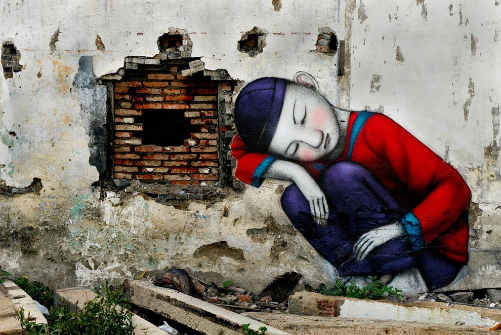 kid street art by graham fink