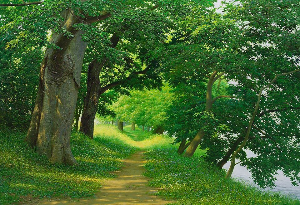 1 nature realistic scenery painting by jung hwan