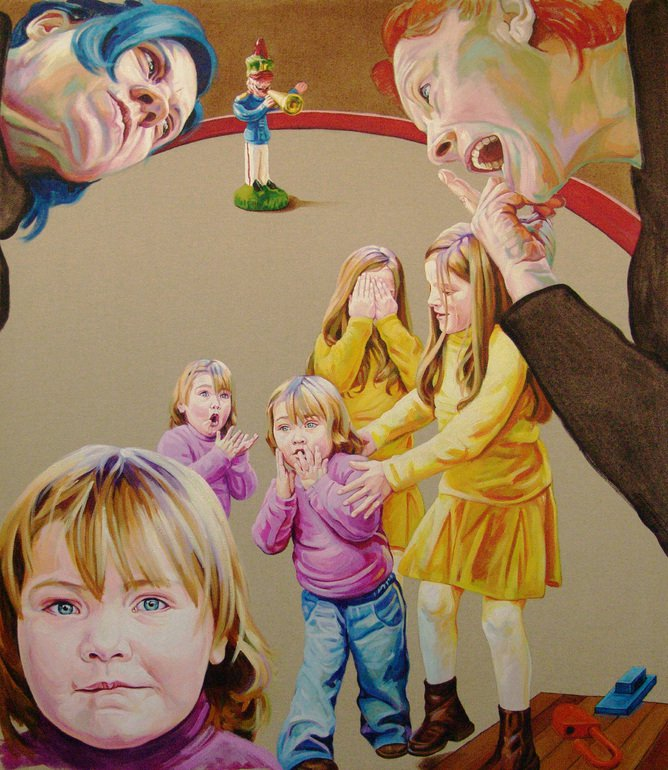 people portrait acrylic painting by cristina troufa
