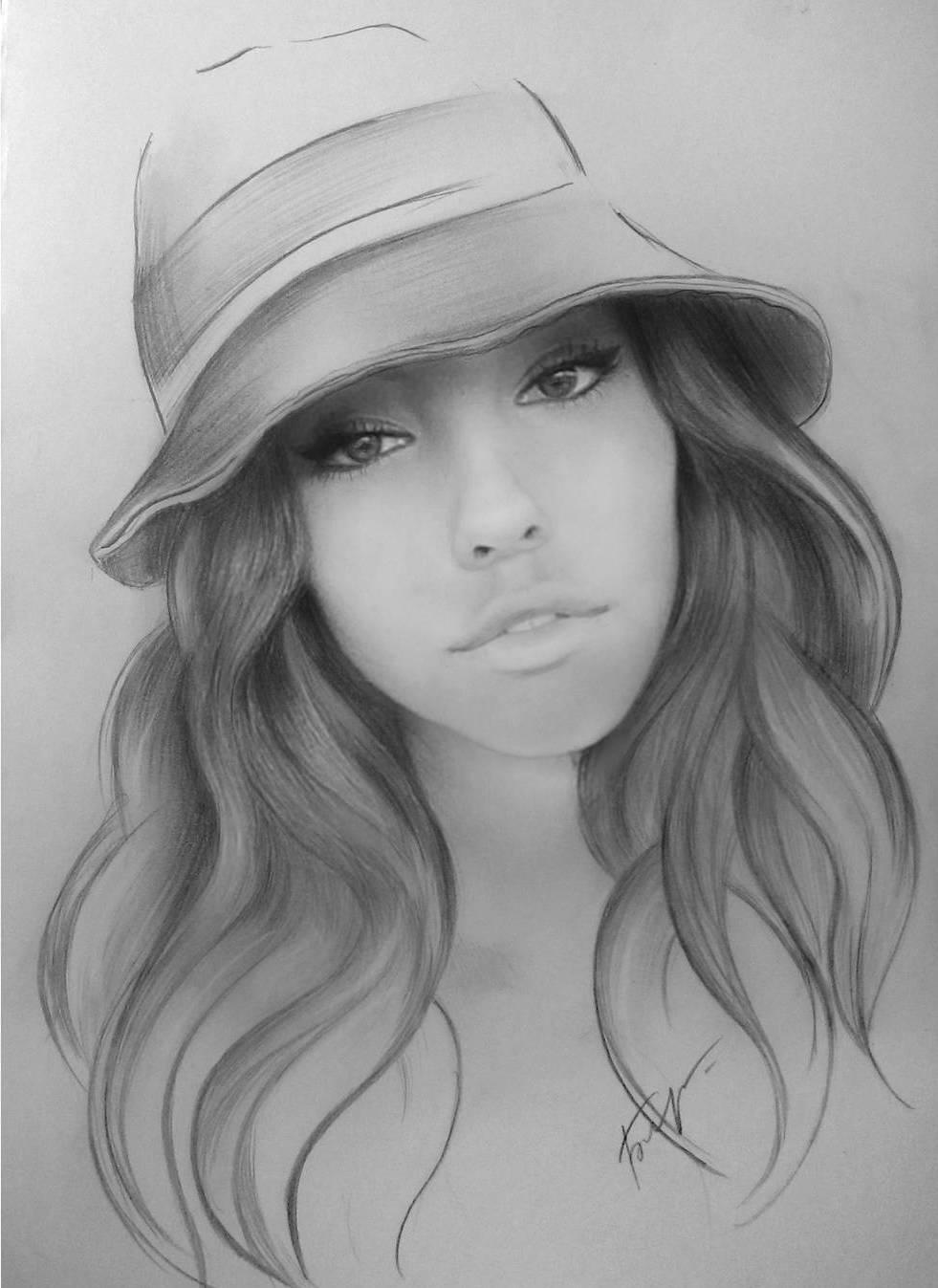 11 woman portrait pencil drawings by vita biryulina