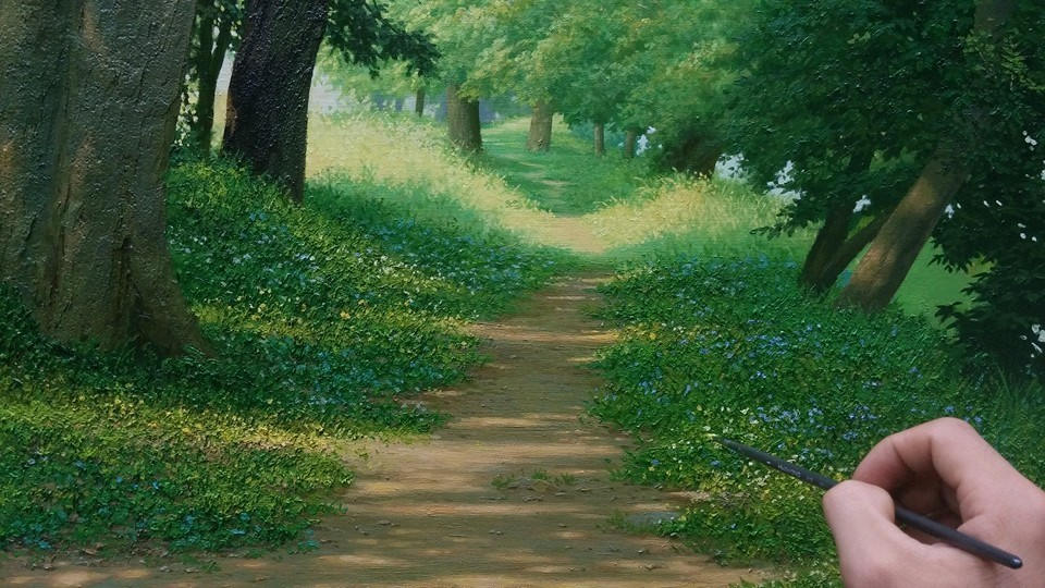 12 nature realistic scenery painting by jung hwan