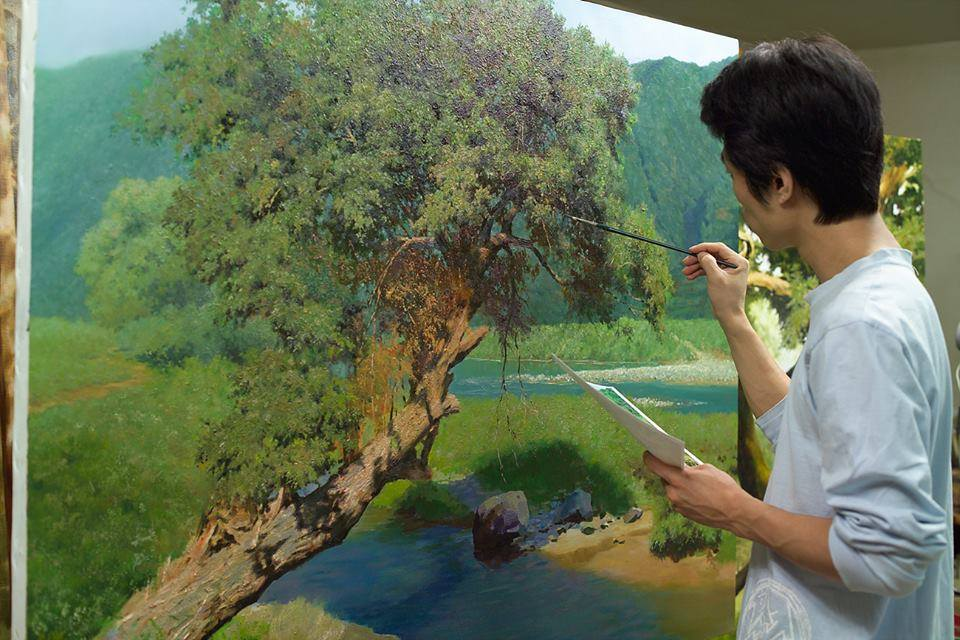 13 nature realistic scenery painting by jung hwan