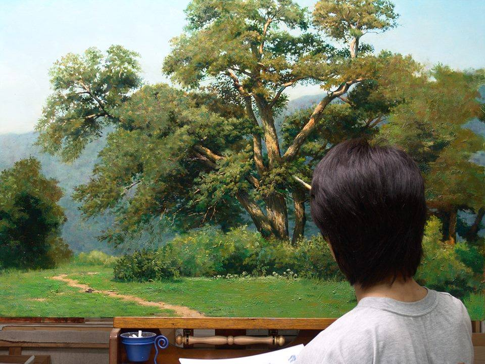 15 nature realistic scenery painting by jung hwan