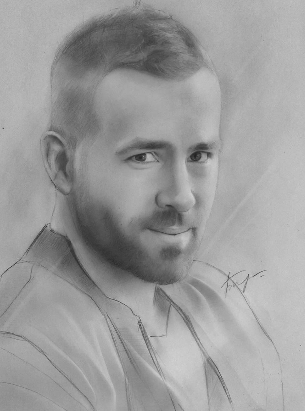 16 man portrait pencil drawings by vita biryulina