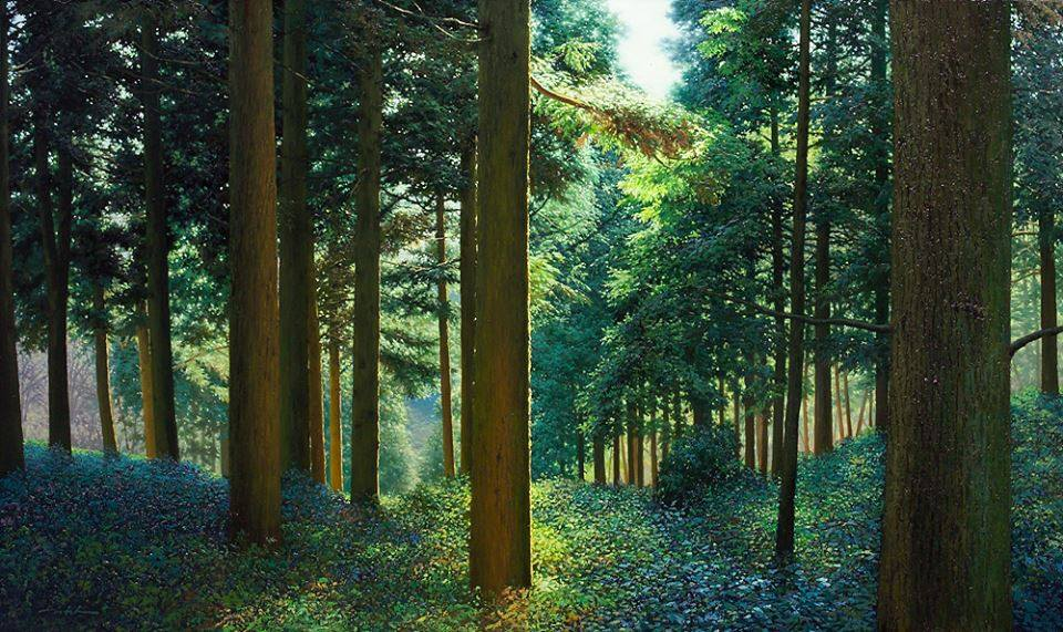 16 nature realistic scenery painting by jung hwan