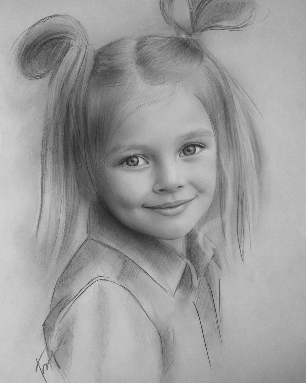 17 kid portrait pencil drawings by vita biryulina