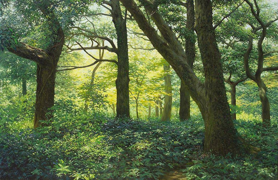 17 nature realistic scenery painting by jung hwan