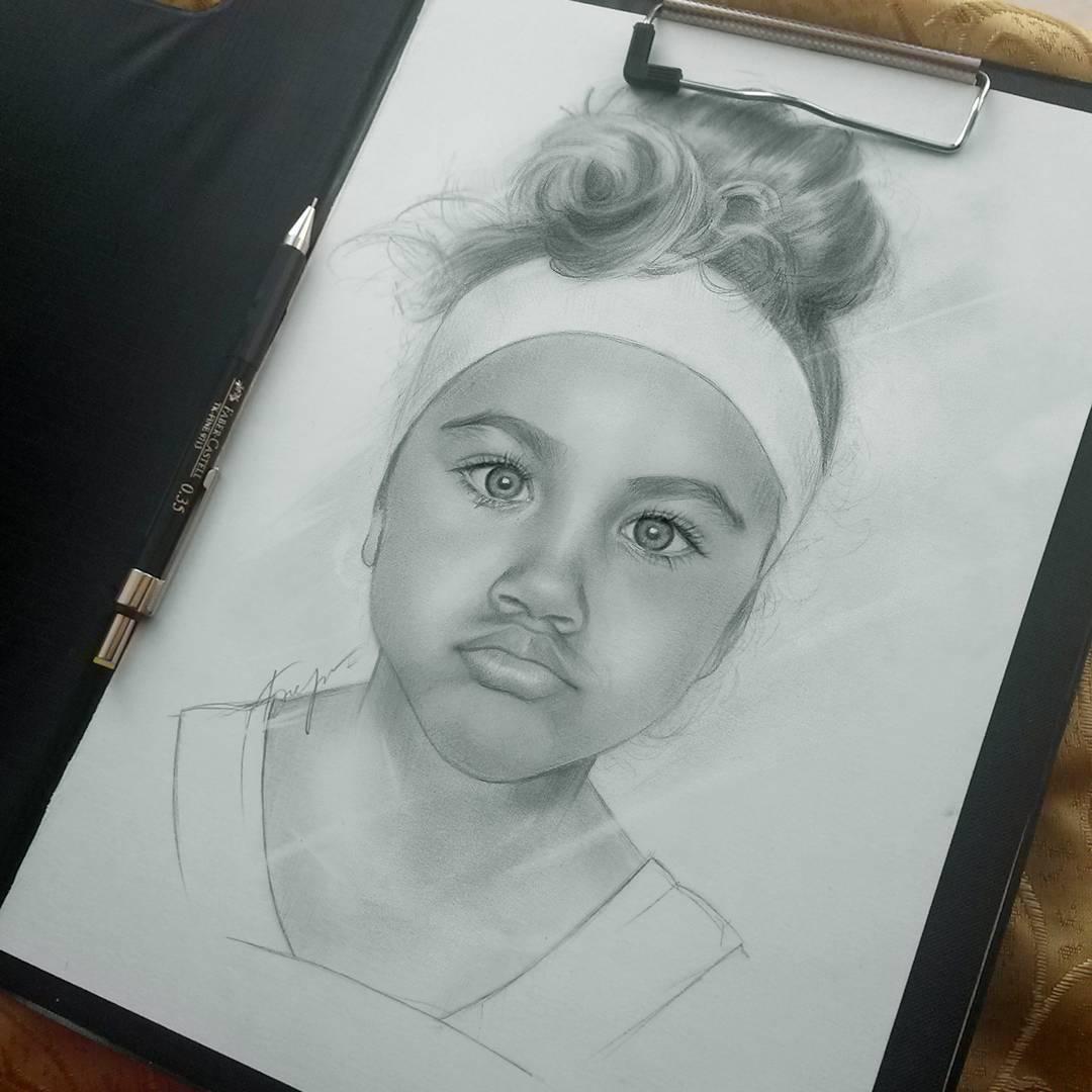 18 kid portrait pencil drawings by vita biryulina