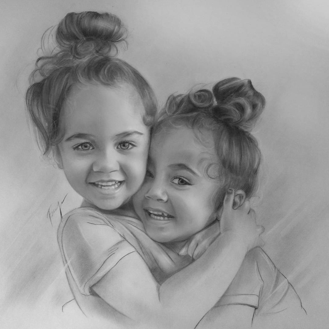 child portrait pencil drawings by vita biryulina