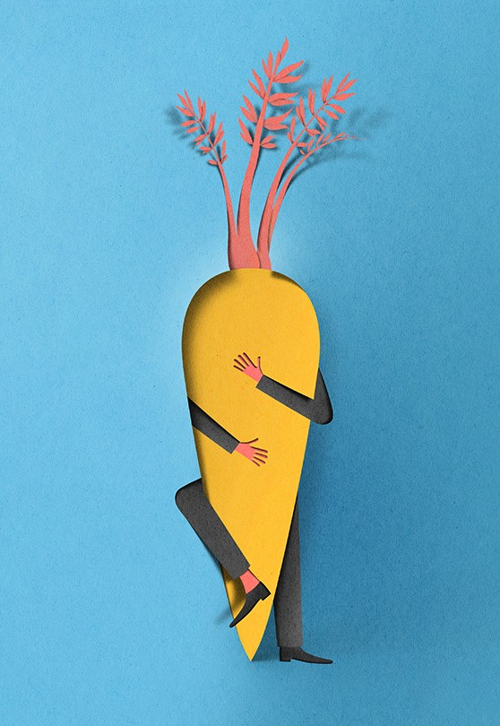 hunger love paper art by eiko ojla