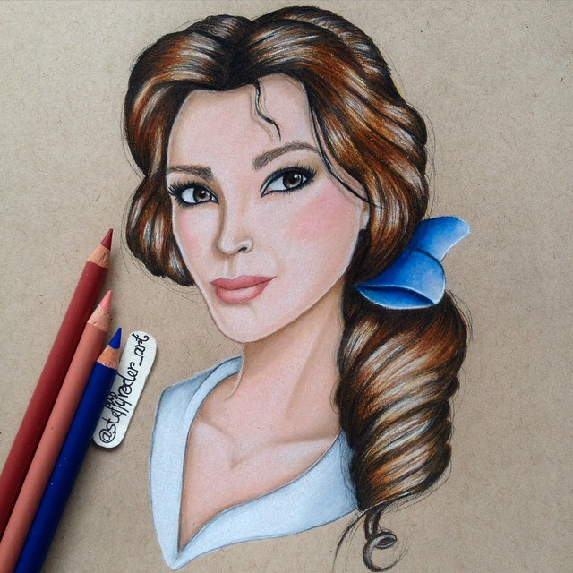 woman color pencil drawings by stephanie frederick