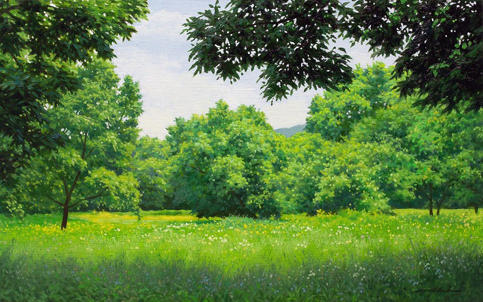 20 nature realistic scenery painting by jung hwan