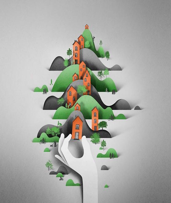village paper art by eiko ojla