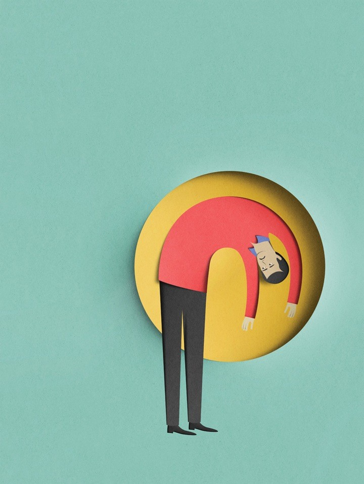 man paper art by eiko ojala