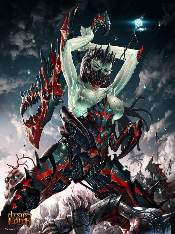 woman war digital iluustration by alexander fedosov