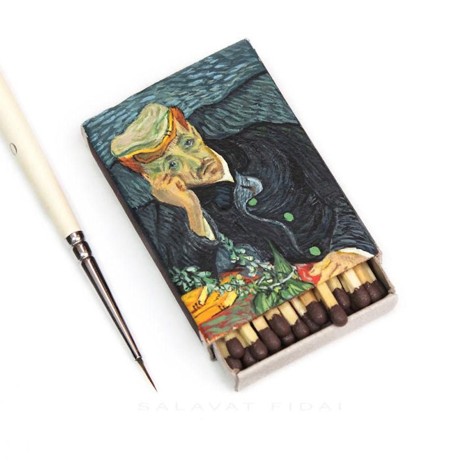gachet miniature painting matchbox by salavat fidai