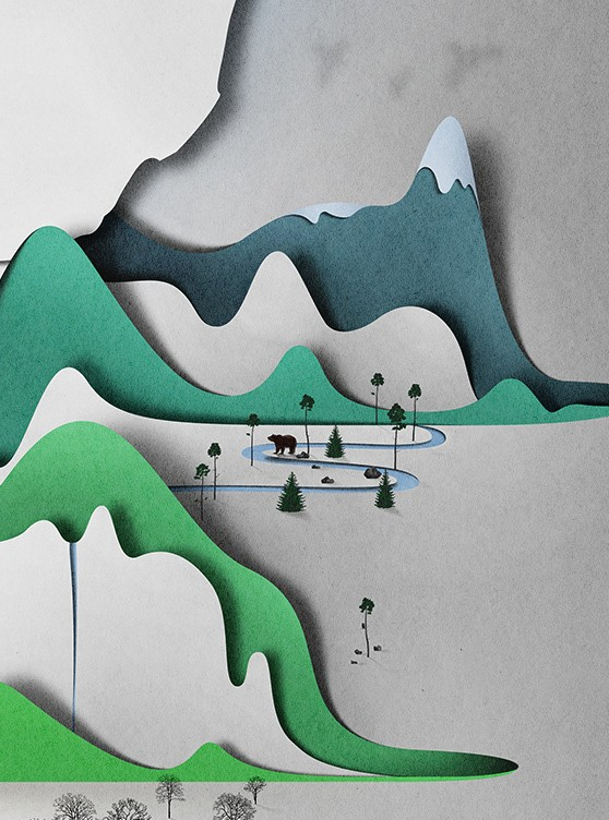 village paper art by eiko ojala