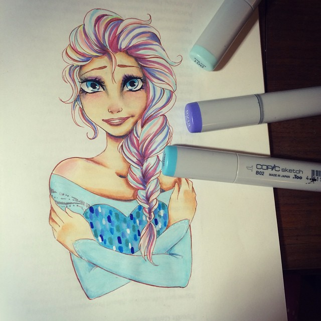 disney cortoon drawings by hope hokulani