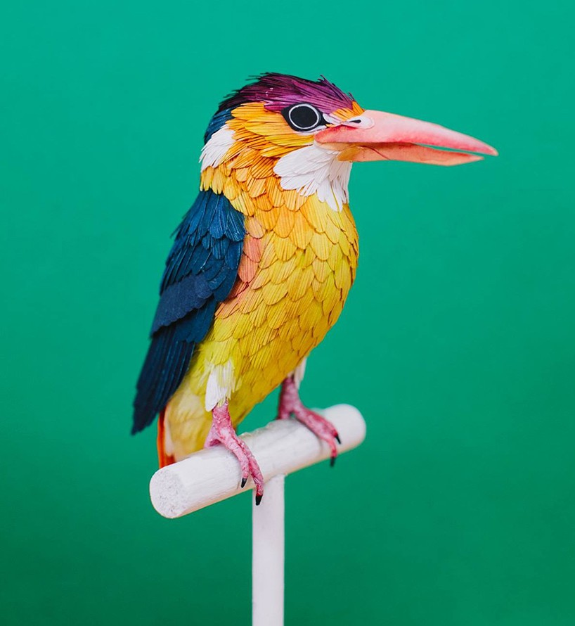 kingfisher bird paper sculptures by diana_0