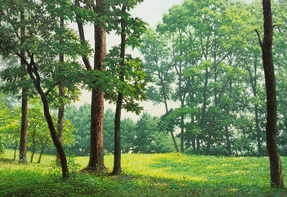 9 nature realistic scenery painting by jung hwan