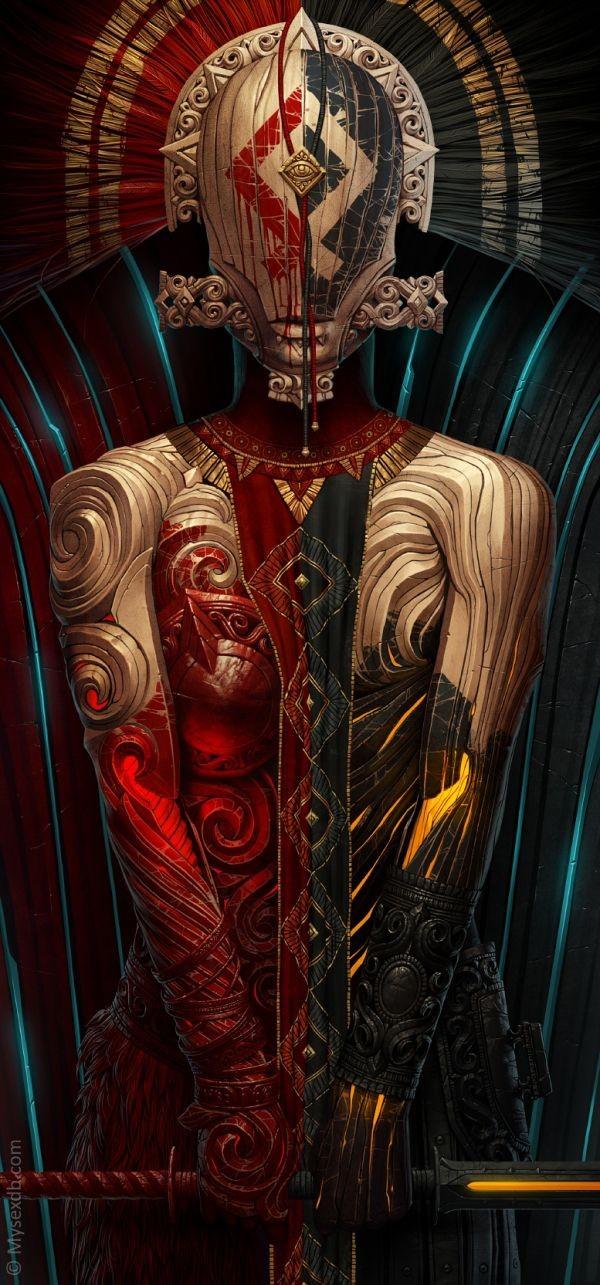 woman digital iluustration by alexander fedosov