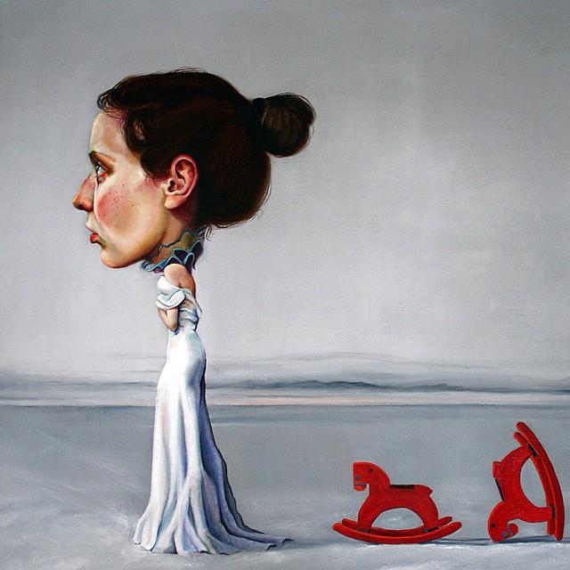 woman surreal paintins by ewa ponczuk kuziak