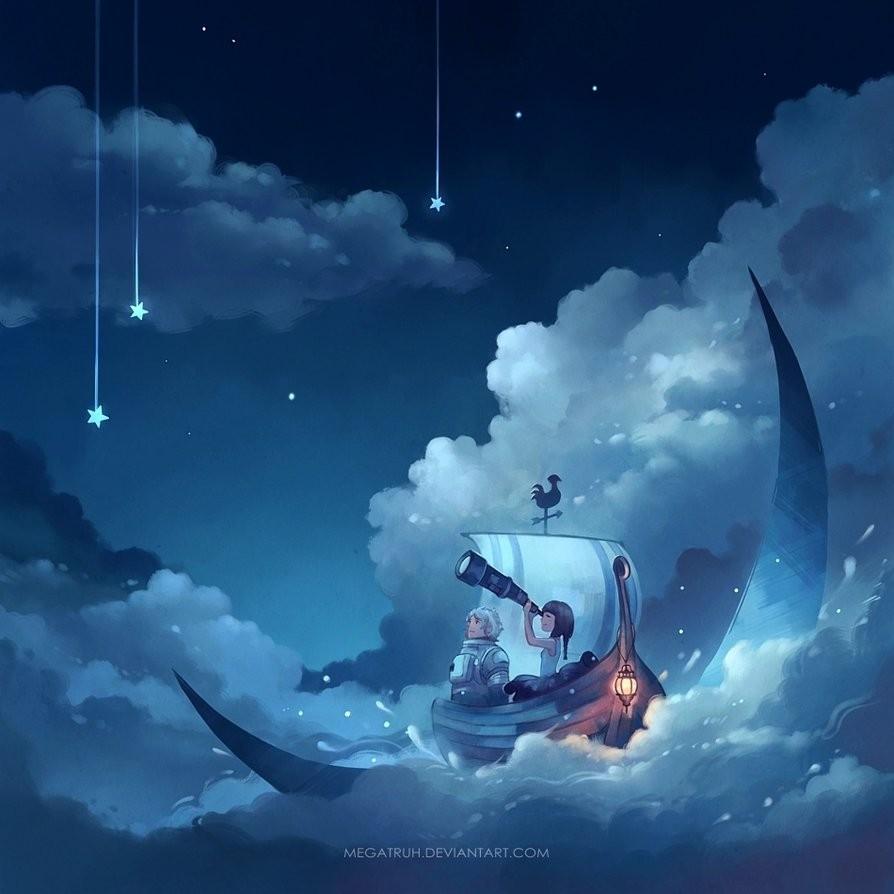 cast away moon digital art by niken anindita