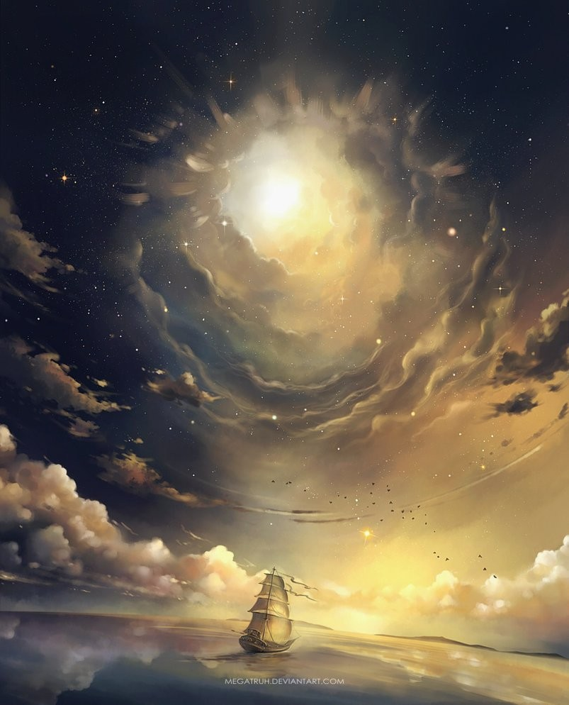 ascension galaxies saw sky digital art by niken anindita