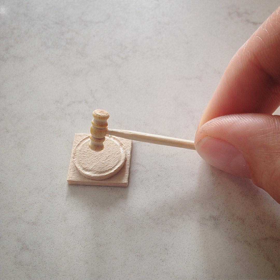 court hammer miniature sculptures by emily boutard