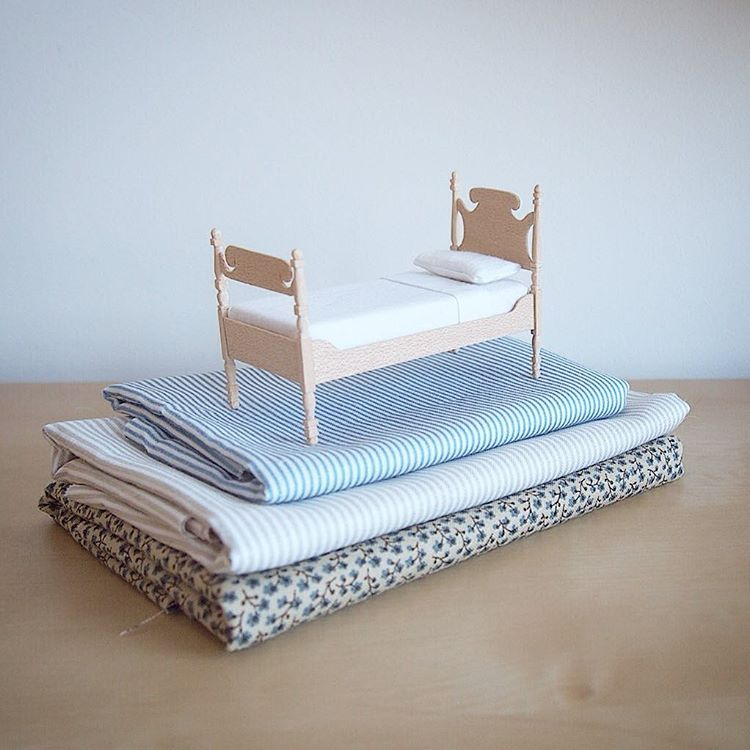 bed miniature sculptures by emily boutard