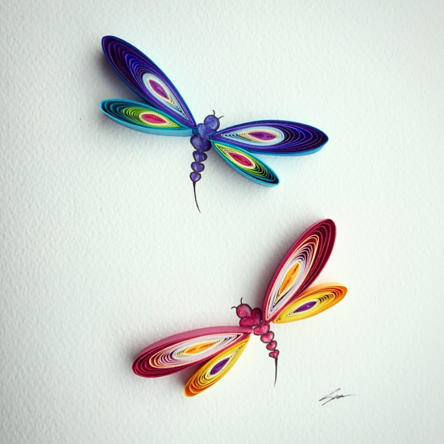 butterfly quilling art by sena runa