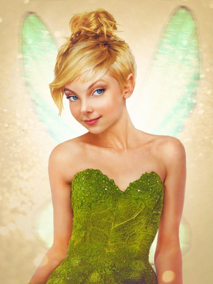 tinker bell disney realistic paintings by jirka vaatainen