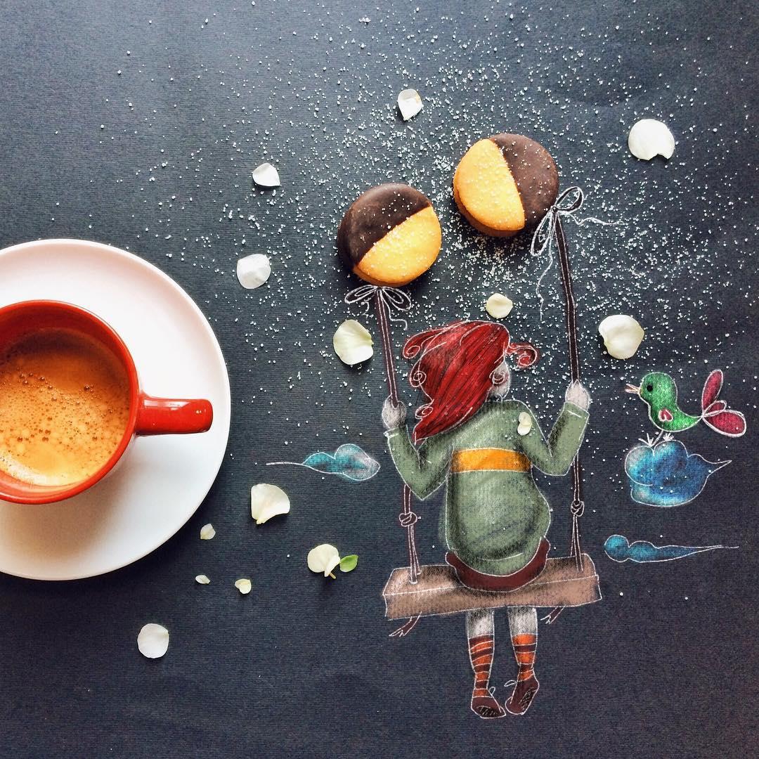 swing end sky creative drawings by cinzia bolognesi