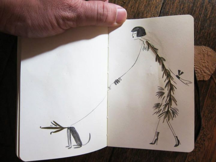 illustrations by sketching backpacker